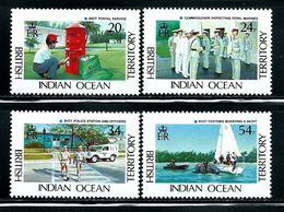 """British Indian Ocean Territory      """"Goverment Services""""     Set   SC# 111-14     MNH - British Indian Ocean Territory (BIOT)"""