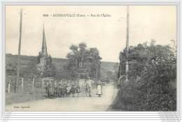 27 - HONDOUVILLE - Rue De L'eglise (animee) - Francia