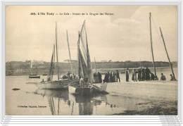 29 - ILE TUDY - La Cale - Retour De La Drague Des Huitres - Ile Tudy