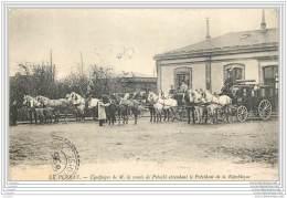 78 - LE PERRAY - Equipage De Mr Le Comte De Potocki Attendant Le President De La Republique A La Gare - Le Perray En Yvelines