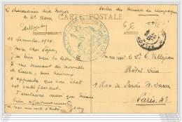 Cachet Du Train Sanitaire N°1 - 5eme Corps D'armee Sur Carte De Troyes 1914 - - Marcophilie (Lettres)