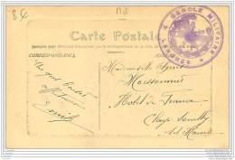 Beau Cachet Du Cercle Militaire De Langres (52) - Couronne Avec Epee - Marcophilie (Lettres)