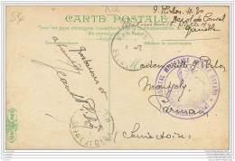 Cachet De L'Hopital Militaire Annexe Bayard A Grenoble ? - Famille Plichon A Parmain (95) - Marcophilie (Lettres)