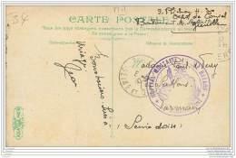 Cachet De L'Hopital Militaire Annexe Bayard A Grenoble ? - Famille Plichon A Parmain (95) N°2 - Marcophilie (Lettres)