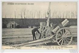 Militaria - Obusier Schneider De Campagne - Guerre 1914 WW1 - Equipment