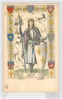Carte Illustree Par Driesten Representant Jeanne D'Arc En 1429 - Femmes Célèbres