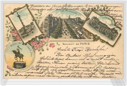 75 - PARIS - Souvenir 1899 - Precurseur Style Gruss - France
