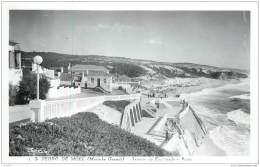 Portugal - Sao Pedro De Moel (Marinha Grande) - Esplanada E Praia Em 1963 - Leiria