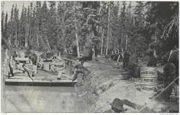 Canada - Scene On The Athabasca River - Grand Trunk Pacific - Motor Boat Gasoline Advert 1912 Railroad Pioneer Merchant - Alberta