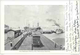 Australia - Melbourne - Port Melbourne Railway Pier 1904 RRR To Paris, France - Melbourne