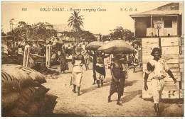 Ghana - Gold Coast - Women Carrying Cocoa Cacao S.C.O.A. Levy 108 - Ghana - Gold Coast