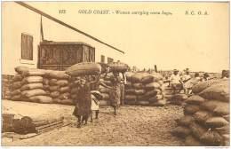 Ghana - Gold Coast - Women Carrying Cocoa Bags Cacao S.C.O.A. Levy 112 - Ghana - Gold Coast