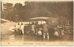 Ghana - Gold Coast - Crossing A River (auto) - S.C.O.A. Levy 328 - Ghana - Gold Coast
