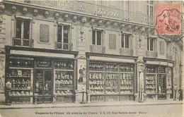75002 - PARIS - Faiencerie Et Porcelaines Av De L'Opera Et Rue Sainte Anne - Cachet Ambulant De Paris A Nogent Le - Arrondissement: 02