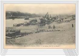 75 - PARIS - La Seine A Travers Paris - La Seine Vue De La Rapee (grue Quai De Chargement - Cachet Perle + OL - France