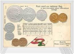 Autriche - CP Gaufree - Pieces De Monnaie - Coins - Monete (rappresentazioni)