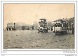75008 - PARIS -  Place De L'Etoile - Un Autobus De La Ligne Porte Maillot - Hotel De Ville + Tramway - Arrondissement: 08