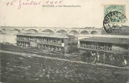 """.CPA  FRANCE 45 """"Orléans, Les Bâteaux Lavoirs"""" - Orleans"""