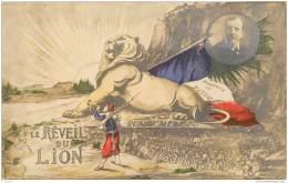 Militaria - Patriotique - Le Reveil Du Lion De Belfort 1914 - Postee Pour Ecrignolles (Eure Et Loir) - Patriotiques