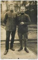 AK Photo - Camp De Prisonniers De Guerre - Gefangenenlager Munster - Soldat Ernest Decaux Avec Cachet St Pierre Vauvray - Guerre 1914-18