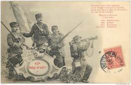 Illustrateur Bergeret - Militaria 42e Regiment D'Infanterie 1906 - Bergeret