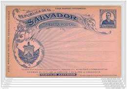SALVADOR - Entier Postal Con Respuesta Pagada (separado) - Non Used - El Salvador