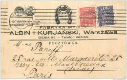 Pologne - Warszawa - Advert Commercial Postcard - Fabryka Myd... Albin I Kurjanski 1932 - Pologne