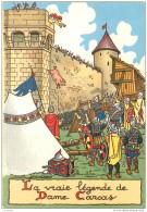 Illustrateur Marcel Jeanjean - Barre Dayez - Legende De Dame Carcas - Serie 1501 A - COCHON JETE SUR LES ENVAHISSEURS - Illustrators & Photographers
