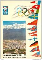 Lot De 5 Cartes Postales Des Jeux Olympiques D'Hiver A Grenoble 1968 - Jeux Olympiques