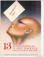 13e Salon International De La Carte Postale 1981 A L'hotel George V A Paris - Carte Numerotee Avec Cachet - Borse E Saloni Del Collezionismo