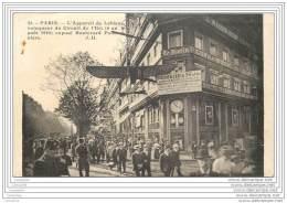 75002 - PARIS  - L'appareil De Leblanc Vainqueur Du Circuit De L'Est (1910) Expose Bd Poissonniere - Aviation - Journal - Arrondissement: 02