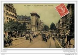 75002 - PARIS  - Porte Saint Denis - Les Boulevards (glacee En Couleur) - Arrondissement: 02
