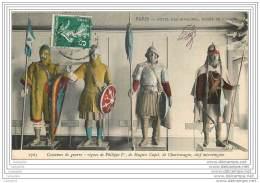 75007 - PARIS - Les Invalides - Musee De L'Armee - Costumes De Guerre : Regnes Philippe 1er, Hugues Capet Et Charlemagne - Arrondissement: 07