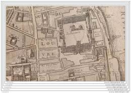 75 - PARIS - Carte Puzzle - Plan Du Vieux Paris - Louvre Vers 1710 - France