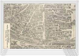 75 - PARIS - Carte Puzzle - Plan Du Vieux Paris - Louvre Et Eglise St Honore En 1550 - France