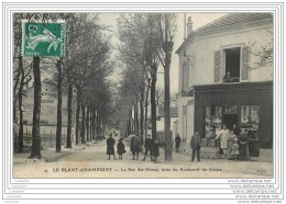 94 - LE PLANT CHAMPIGNY - La Rue Des Ormes - Commerce Peinture Vitrerie - Animee - France