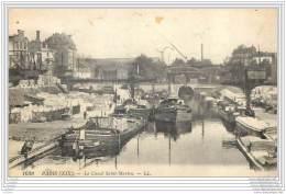 75019 - PARIS - Le Canal Saint Martin - Arrondissement: 19