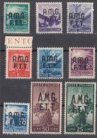 TRIESTE  Zona A AMG-FTT - 1947/1948 - Lotto 9 Valori Nuovi, Come Da Immagine. - 7. Trieste