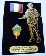 BIG Pin's Casque Bleu ONU SARAJEVO Collection J.Y SEGALEN 1995 - Army