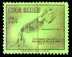 647  Prehistoric Fauna - 1958 - No Gum - Free Shipping - 1,25 - Timbres