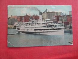 "Steamer  ""Greyhound"" Leaving Toledo Ohio   > Ref 2977 - Paquebots"