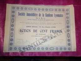 S.I.B.L. Immobiliere De La Banlieue Lyonnaise (1926) - Sin Clasificación
