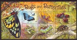 2003 - Australian BIGS & BUTTERFLIES Sheetlet Minature Sheet MNH - Blocks & Sheetlets