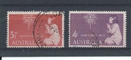 Australië    Y/T      242 / 243    (O) - 1952-65 Elizabeth II : Ed. Pré-décimales
