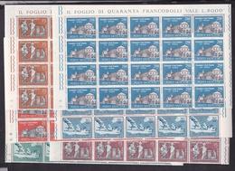 1961 Vaticano Vatican SAN PAOLO 20 Serie Di 6v. In Blocco MNH** Saint Paul - Vatican