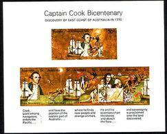 1970 - Australian CAPTAIN COOK BICENTENARY Minisheet Minature Sheet MNH - Blocks & Sheetlets