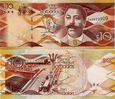 BARBADOS       10 Dollars       P-75[b]       30.10.2017        UNC - Barbades