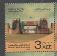 UAE, 2017, MNH, SHEIKH ZAYED HERITAGE FESTIVAL, FORTS, 1v - Other