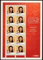 2008 - Australian BEIJING OLYMPIC GAMES GOLD MEDALLISTS (set 14) Minisheet Minature Sheet MNH Instant Offset Printing - Blocks & Sheetlets