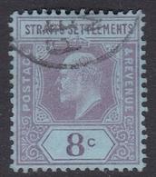 Malaysia-Straits Settlements SG 114 1902 King Edward VII, 1902  4c Purple Red, Used - Straits Settlements